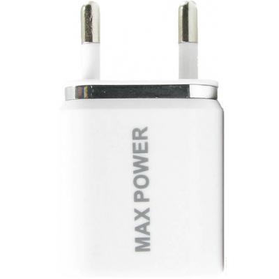 Зарядное устройство MaxPower Double 2.1A+1A White/Silver (33828)