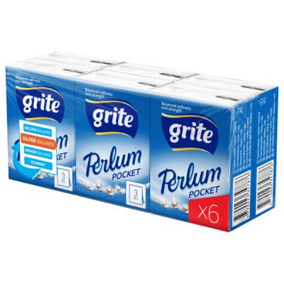 Носовые платки Grite Perlum Pocket 3 слоя 8 шт х 6 пачек (4770023347883)