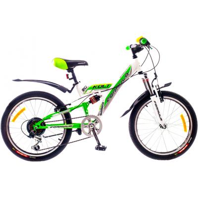 """Велосипед Formula 20"""" KOLT AM2 14G St бело-зеленый 2015 (PCT*-FR-20-004-1)"""